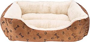 ANIMALS FAVORITE NEW RECTANGLE PET BED WITH DOG PAW PRINT
