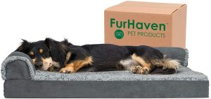 FURHAVEN PET- PLUSH ORTHOPEDIC SOFA CUM DOG BED
