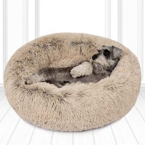 Friends Forever Donut Pet Bed with Faux Fur