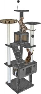 Furhaven Pet Tiger Tough Tall Cat Tree Entertainment Playground Furniture for Cats & Kittens
