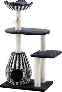 Ace- PetPals Cat Tree & Cat Condo-Four Level Perch & Condo Lounger