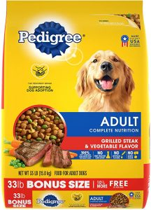 PEDIGREE ADULT DRY DOG FOOD, CHICKEN AND STEAK