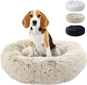 FuzzBall Fluffy Luxe Pet Bed for Dogs & Cats – 3 Colors Available