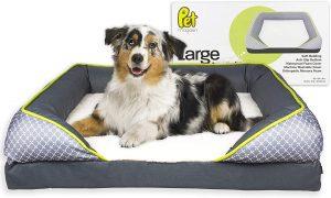 PET MAGASIN LARGE ORTHOPEDIC MEMORY FOAM BOLSTER DOG BED