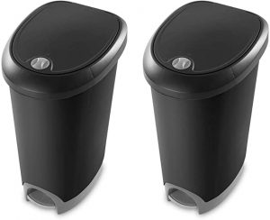 Sterilite Step On 12.6 Gallon Round Trash Can Dog Proof