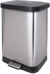 GLAD GLD-74560 Stainless Steel Step Trash Can with Clorox™ Odor Protection of the Lid