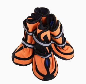 QBLEEV Waterproof Dog Shoes Breathable Paw Sole Protectors
