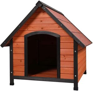 Sandinrayli 3- Outdoor Wooden Dog House with Weatherproof Peaked Roof