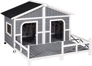 PawHut - Large Outdoor Cabin Style Dog House