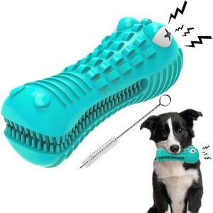 GeLar Dog Chew Toys for Aggressive Chewers Large Breed with Toothbrush & Squeaker