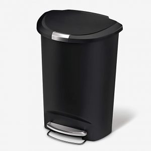 Simplehuman Semi Round Kitchen Step Trash Can with Secure Lock