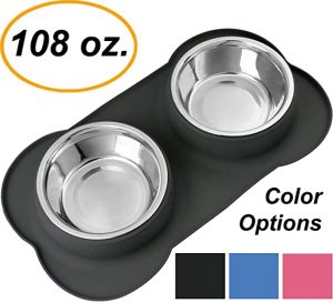 spill proof dog bowl