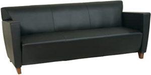 Office Star Modern Leather Sofa