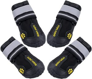 QUMY Best Dog Boots Waterproof Shoes