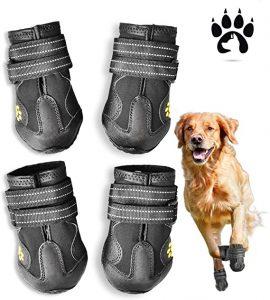 Easiestsuck Waterproof Outdoor Large Dog Snow Boots