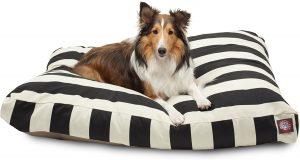 Majestic Black Vertical Stripe Dog Bed