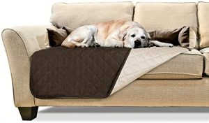 Furhaven Two-Tone Sofa & Couch Furniture Cover