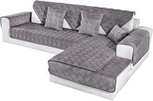 OstepDecor Quilted Sectional Couch Covers